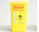 Yellow sharps bucket I137